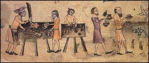 Feast Service, Lutrell Psalter