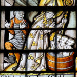 St. Nicolas with children in a barrel
