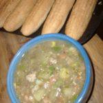 Tomatillo Chili with GF Cornbread