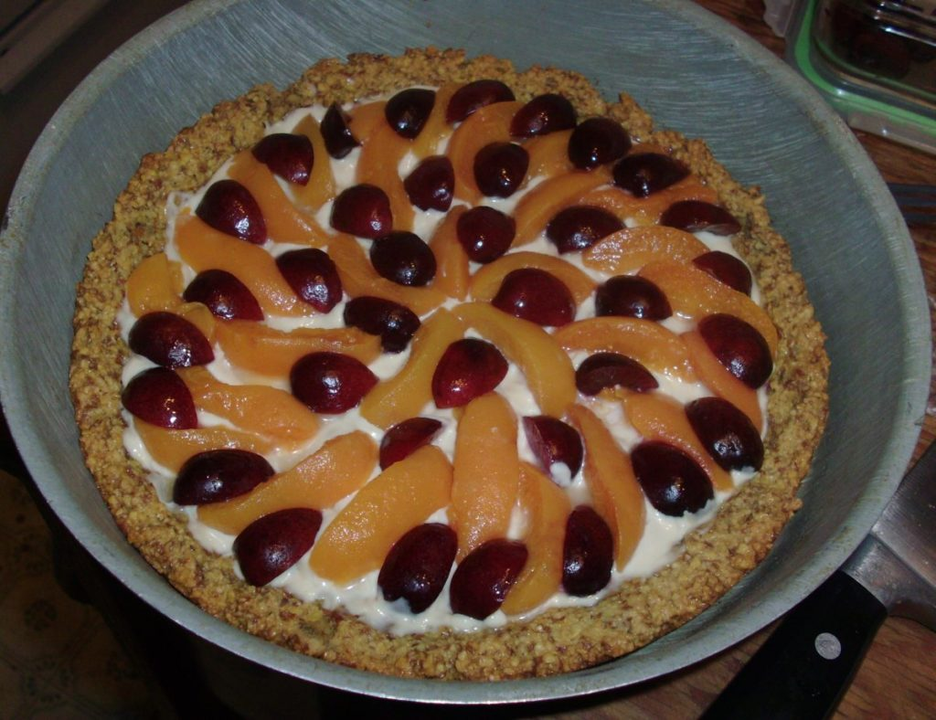 "Apricot Amaretto Tart for ""Easy Gluten-Free Entertaining"""