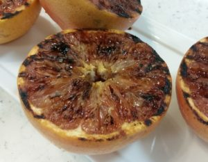 Grilled Pink Grapefruit with Tamari Maple Glaze - CW