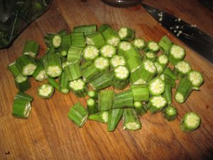 Fresh Okra pieces