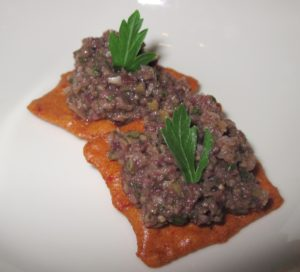 Epityrum - Chopped Olive Relish in Snacks From The Herb Garden class with Chef Christy