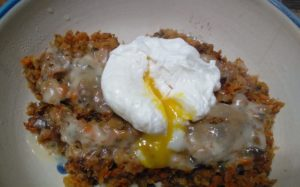 Veggie Hash with Poached Egg